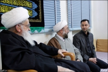 دیدار ریاست سازمان پژوهش وزارت آموزش و پرورش با حضرت آیت الله العظمی صافی گلپایگانی