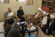 دیدار وزیر آموزش و پرورش؛ آقای سيد محمد بطحايی با حضرت آیت الله العظمی صافی گلپایگانی.