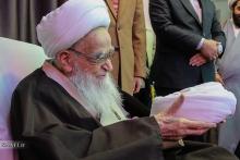 عمامه گذاری طلاب توسط حضرت آیت الله العظمی صافی گلپایگانی - ۱۷ ربیع الاول 1438