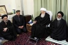 عزاداری شهادت حضرت ثامن الحجج (ع) در دفتر حضرت آیت الله العظمی صافی گلپایگانی