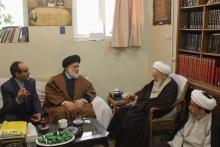 دیدار سفیر ایران در کشور گینه کوناکری با حضرت آیت الله العظمی صافی گلپایگانی