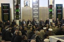 گردهمایی مسئولین و مداحان هیئات مذهبی قم در دفتر مرجع عالیقدر حضرت آیت الله العظمی صافی گلپایگانی