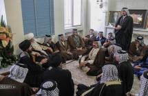 دیدار جمعی از شیوخ عشائر عراق با مرجع عالیقدر حضرت آیت الله العظمی صافی گلپایگانی