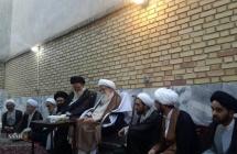 دیدار جمعی از علمای مشهد مقدس با مرجع عالیقدر حضرت آیت الله العظمی صافی گلپایگانی.