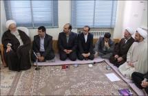 دیدار ریاست و اعضای هیئت علمی دانشگاه پیام نور قم با حضرت آیت الله العظمی صافی گلپایگانی