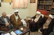 دیدار مدیران شبکه جهانی الأهواز و الأمیر با حضرت آیت الله العظمی صافی گلپایگانی