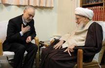 دیدار دکتر صالحی، رئیس سازمان انرژی اتمی با حضرت آیت الله العظمی صافی گلپایگانی