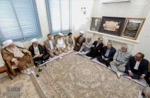 دیدار تولیت مسجد مقدس جمکران و مسجد کوفه با مرجع عالیقدر حضرت آیت الله العظمی صافی گلپایگانی