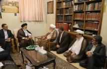 دیدار مسئولین سازمان حج و زیارت با حضرت آیت الله العظمی صافی گلپایگانی